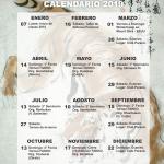 Calendario de actividades para el 2019